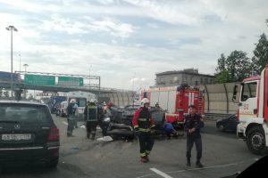 Серьёзная авария произошла на КАД у Шафировского проспекта
