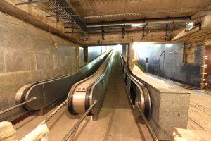 У будущей станции метро «Проспект Славы» начинается активное благоустройство