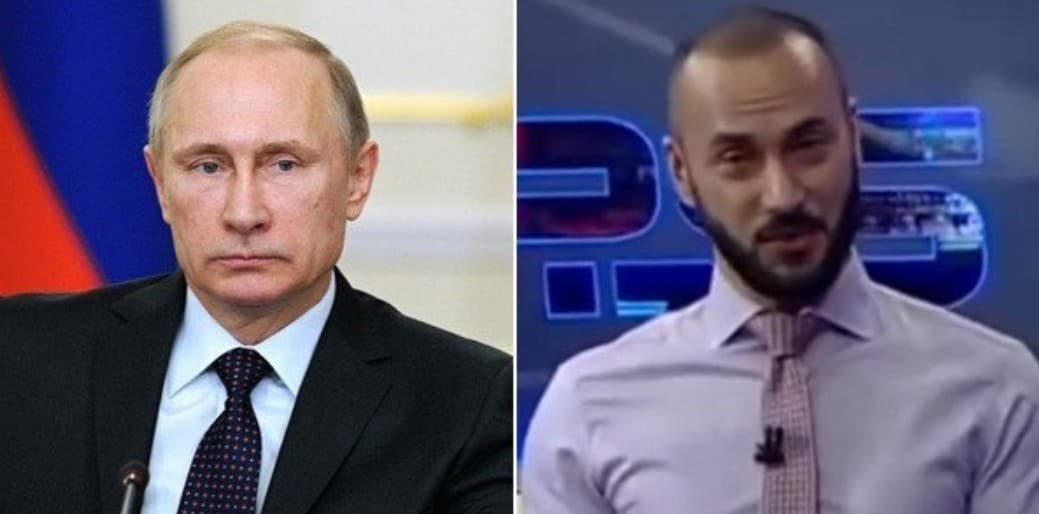 Грузинский ведущий обматерил Путина на местном телеканале