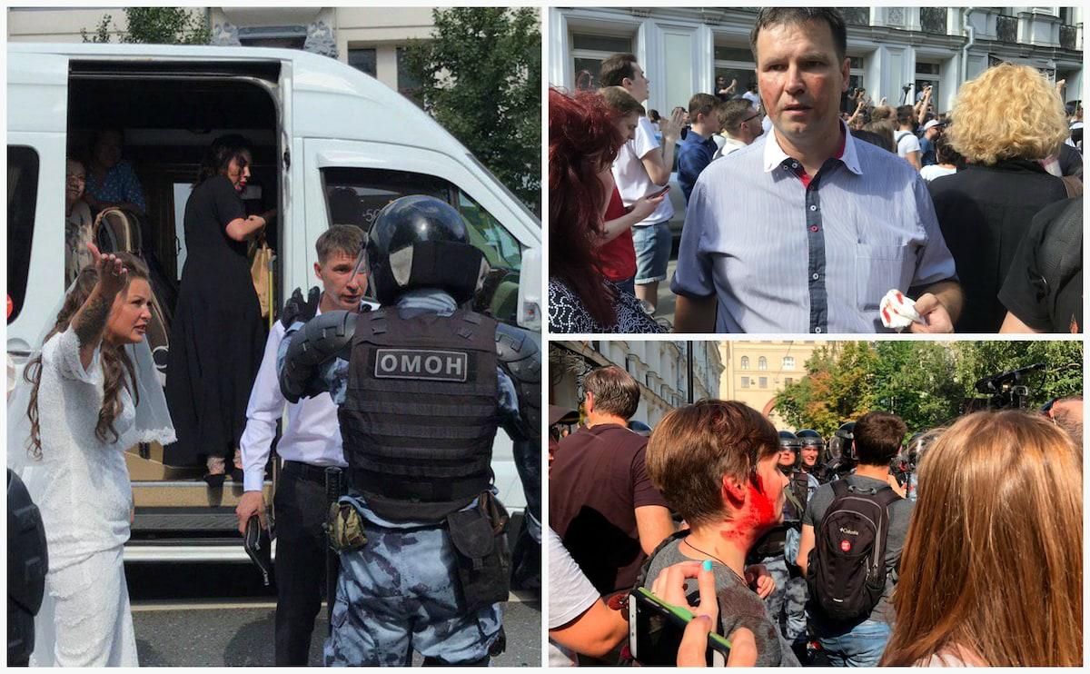 Митинги проходят в Москве: задержаны сотни человек (фото, видео)