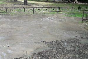 На Бухарестской забили фонтаны