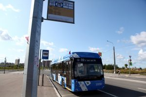 Троллейбусный маршрут № 32 продлён к Балтийскому бульвару благодаря автономному ходу