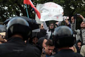На площади Ленина состоялся митинг в поддержку московских оппозиционеров