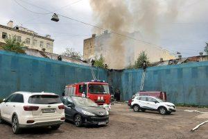 В центре Петербурга горело неиспользуемое здание
