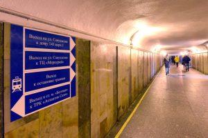 Новая тактильная разметка появится в подземном переходе на Савушкина