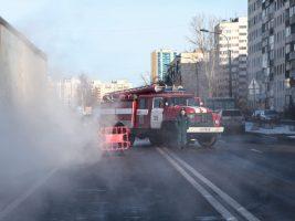 В районе Коломяг сгорела «Газель»