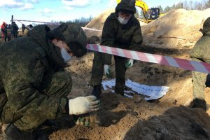 Около трассы «Кола» обнаружили останки 75 красноармейцев