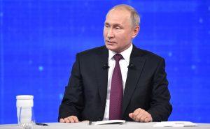 Путин выступил с коротким телеобращением к россиянам