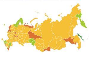 Оперативный штаб опубликовал карту выхода регионов из самоизоляции