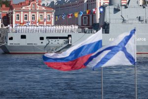 В Неве установили рейдовое оборудование для военно-морского парада
