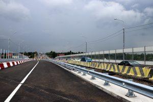 Движение по Гореловскому путепроводу переключили на новый участок