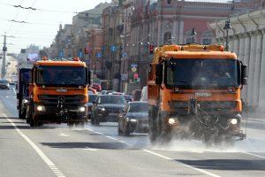 Всё ради чистоты: за неделю на улицы Петербурга «вылили» 114 литров шампуня
