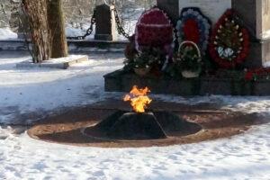 В Красном Селе дети потушили Вечный огонь снежками