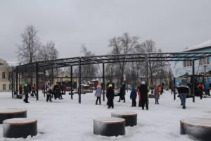 В Новой Ладоге открыли сквер для молодёжи