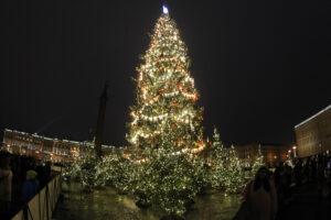 Теперь точно Новый год: на Дворцовой площади официально зажгли ёлку