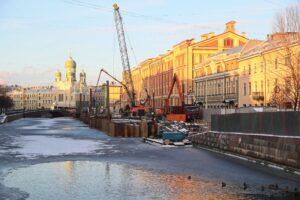 Набережную канала Грибоедова отремонтируют к середине октября 2021 года