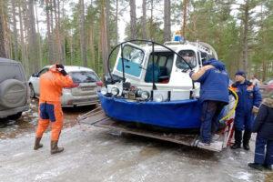 Рыбаков со льдины в Кингисеппском районе спасли