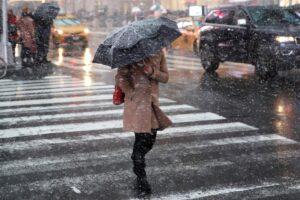 Синоптик рассказал о мокром снеге в Петербурге